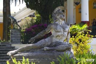about corfu stevens hotel achilles sculpture